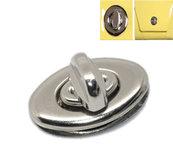 draaisluiting zilverkleurig 3,5 bij 3,3 cm