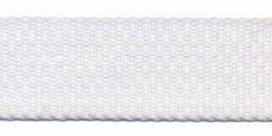 stevig tassenband 2,5 cm breed, wit
