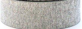 taille-elastiek 2 cm breed: zilver / HALVE METER