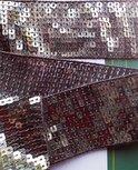 paillettenband 4,5 cm breed: zilver