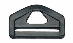 D-ring driehoekig zwart kunststof 38mm