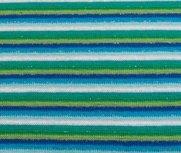 fijne boordstof gestreept met glitter: blauw/groentinten
