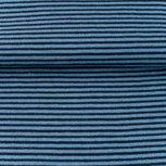 fijne boordstof jeans/donkerblauw-  smal streepje 2 mm