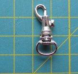 minimusketonhaak, zilverkleurig, lengte 2,5 cm