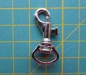 minimusketonhaak, zilverkleurig, lengte 3,2 cm