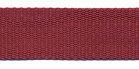 stevig tassenband 2,5 cm breed, donkerrood