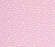 Karla: roze boordstof met ingeweven witte noppen