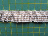 elastisch ruitjesband, kaki/wit