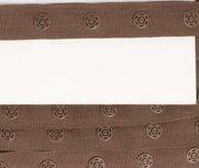 drukkertjesband bruin: afstand 2,5 cm: HALVE meter