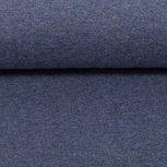 Heike melange: fijne boordstof jeansblauw