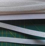 gebroken wit elastiek met glitterdraad