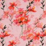 Jonne, tricot roze met bloemen