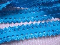 sierelastiek met schulprand aan beide kanten, turquoise