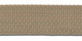stevig tassenband 2,5 cm breed, zand