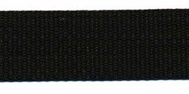 stevig tassenband 2,5 cm breed, zwart