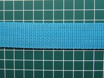 stevig tassenband 2,5 cm breed, dirty middenblauw