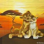 Lion King panel  60 bij 50 cm. Simba met Nala