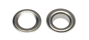 Zeilring/nestel 10 mm vernikkeld staal