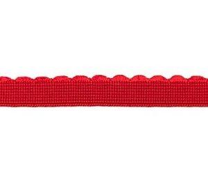 elastiek met schulprandje 12 mm breed, rood
