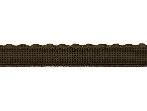 elastiek met schulprandje 12 mm breed, donkerbruin
