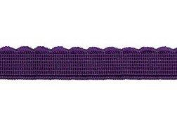 elastiek met schulprandje 12 mm breed, paars