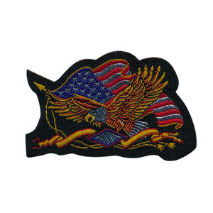 opstrijkbare applicatie: Amerikaanse vlag met zeearend