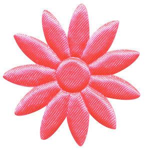 grote bloem, glimmend knalroze satijn bijna 5 cm