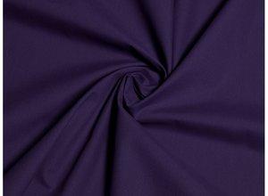 coupon 110 cm: siliconpoplin (chintz) donkerblauw ietsje neigend naar paars