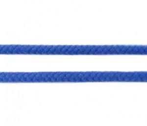 Koord 8 mm gevlochten katoenen koord, blauw