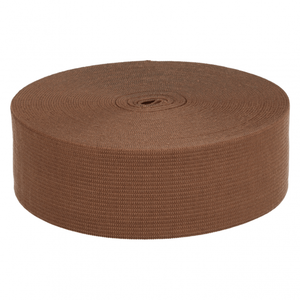 taille-elastiek 4 cm breed: bruin /HALVE METER