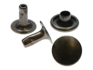 Holniet 9 mm oud zilverkleurig 10 stuks