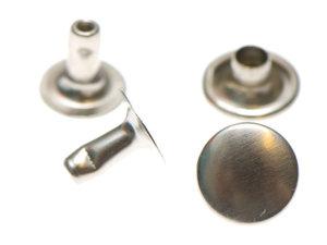 Holniet 9 mm zilverkleurig 10 stuks