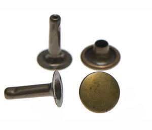 Holniet 9 mm met lange steel: bronskleurig 10 stuks