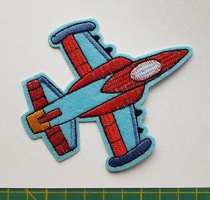 opstrijkbare applicatie: vliegtuig