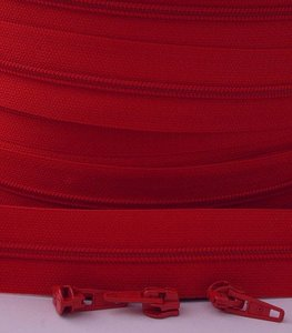 rits aan de meter, rood 4mm