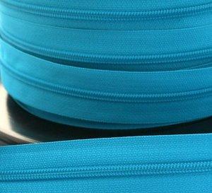 rits aan de meter, turquoise 4mm