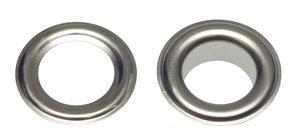 Zeilring/nestel 14 mm vernikkeld staal