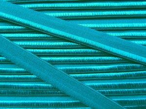elastisch paspelband, turquoise