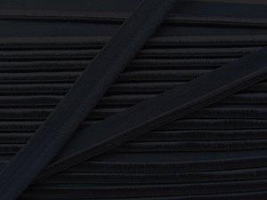 elastisch paspelband, zwart