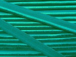 elastisch paspelband, groenig turquoise