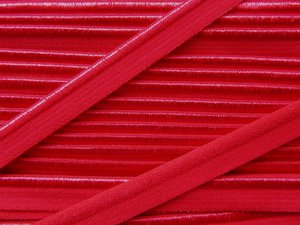 elastisch paspelband, rood