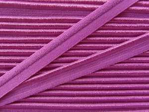 elastisch paspelband, fuchsia-paars