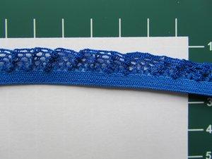 elastisch rucheband, blauw, iets bredere ruche