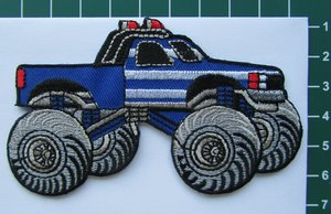 monstertruck, blauw