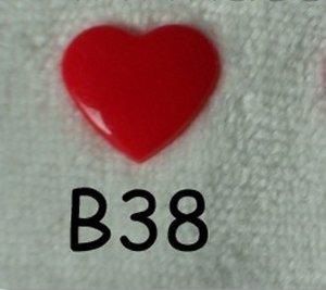 snaps rood glanzend hartje, kleur 38