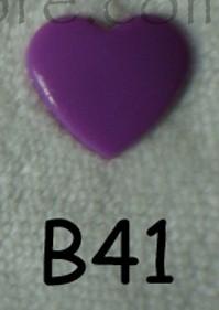 snaps violet glanzend hartje, kleur 41