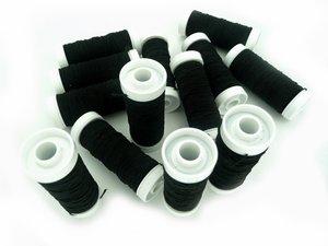 rimpelelastiek zwart