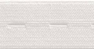 knoopsgatenelastiek wit, 2,5 cm breed