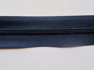 rits aan de meter, marineblauw 4mm