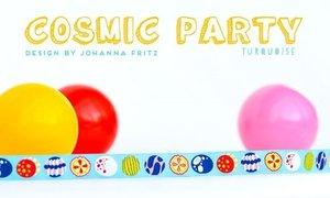 Cosmic Party turquoise, sierbandje